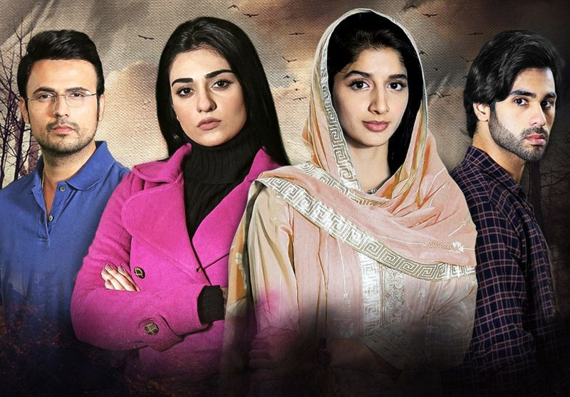 Usman Mukhtar, Sarah Khan, Mawra Hocane and Ameer Gilani in a poster of SABAAT-1586180317991