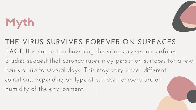 Coronavirus Myth vs Fact
