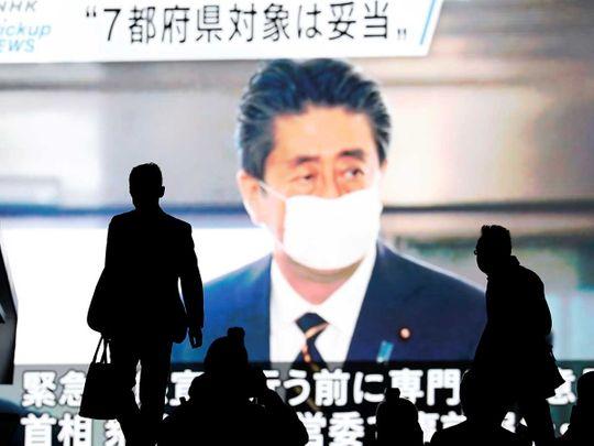 Japan Abe emergency coronavirus
