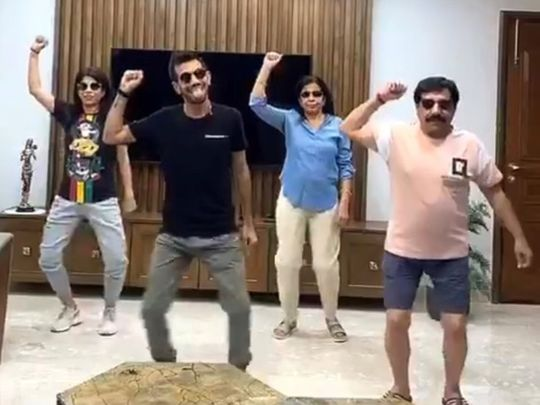 Cricketer Chahal and family make TikTok video for fans