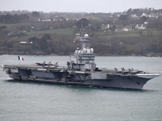French aircraft carrier Charles de Gaulle