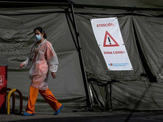 Spain coronavirus tent