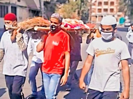 Muslim men help carry Hindu woman's bier in MP's Indore after relatives fail to attend funeral due to lockdown