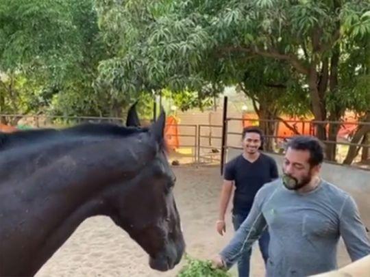 A screengrab from Salman Khan's Instagram video during coronavirus lockdown.