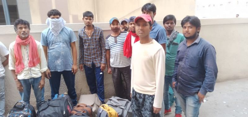 Indian jobseekers evicted from their accommodation in Sharjah on Saturday have nowhere to go. Rendered homeless and penniless the men desperately want to return back to their country
