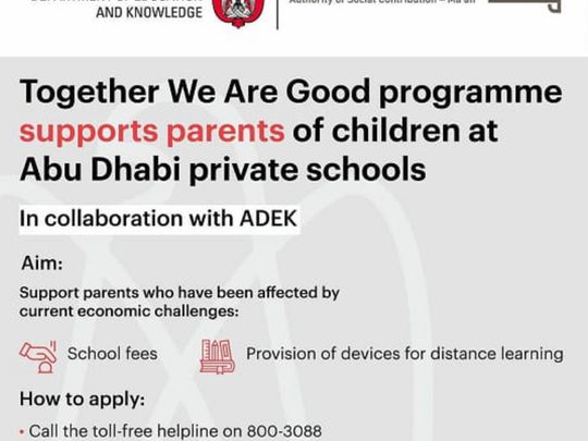 Abu Dhabi to help struggling parents with school fees