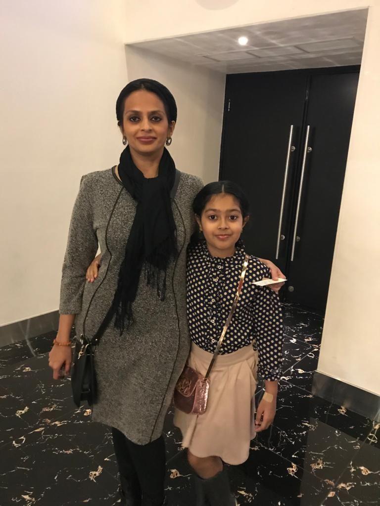 Nausheen with her daughter Amatullah