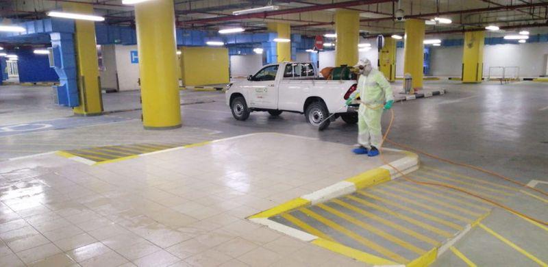 Abu Dhabi cleaner parking mall