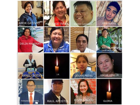 Filipino nurses who died UK