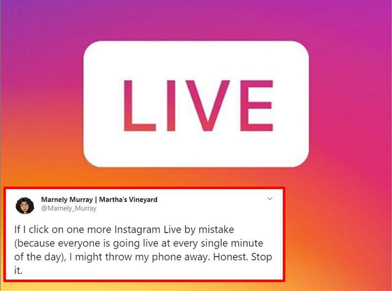 Instagram live during Corona