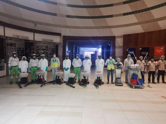 abu dhabi cleaners in malls