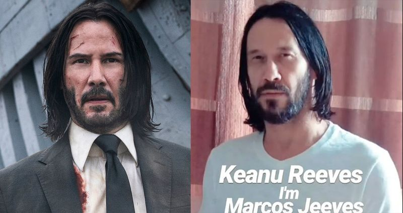 Keanu Reeves and Marcos Jeeves