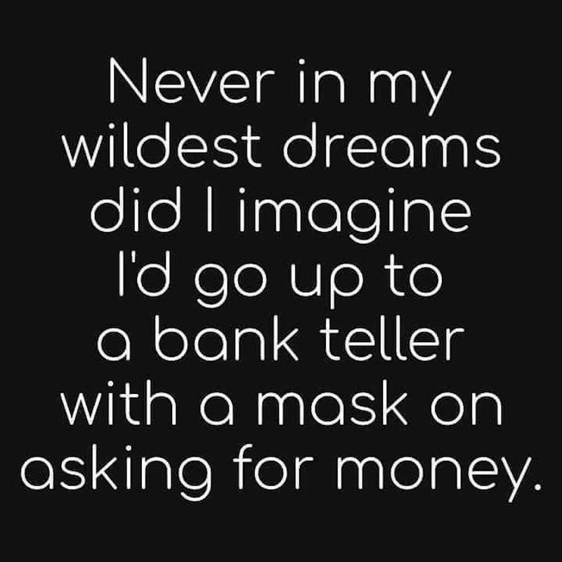 Mask asking for money