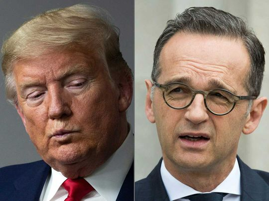 Trump and German Foreign Minister Heiko Maas