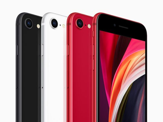 iPhone SE comes in three beautiful colors, black, white, and (PRODUCT)RED and is designed to withstand the elements with dust and water resistance.