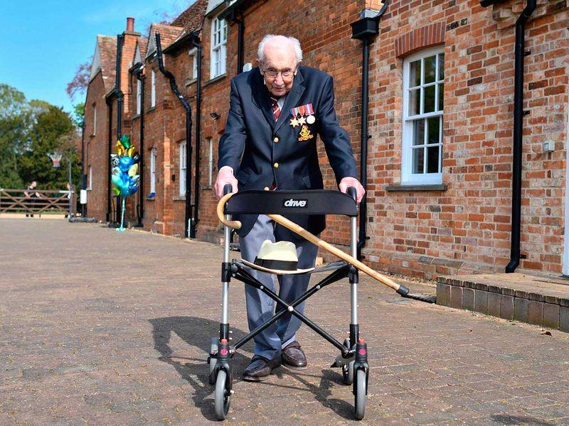 British World War II veteran Captain Tom Moore
