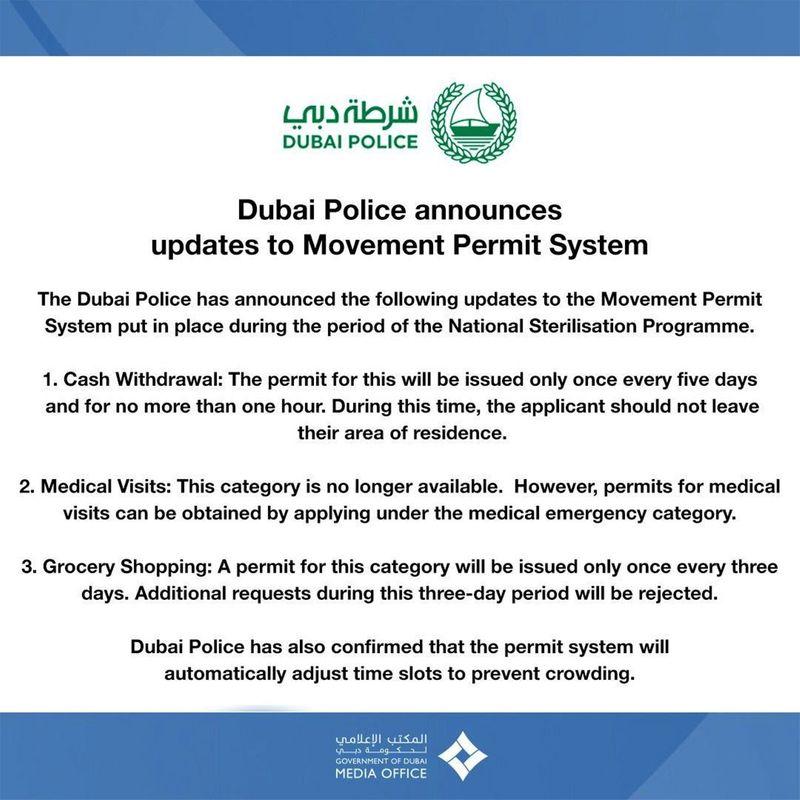 Dubai police move