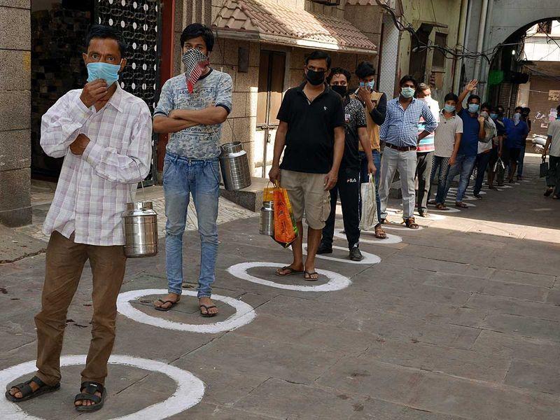 India mathura social distancing