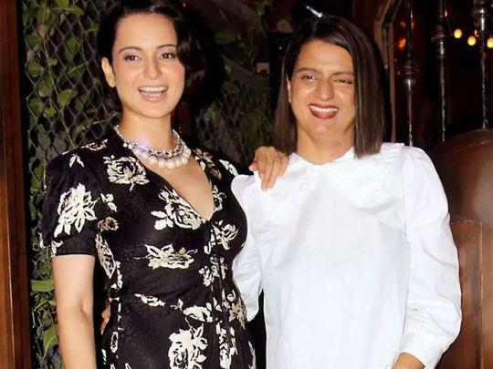 Kangana Ranaut and Rangoli Chandel