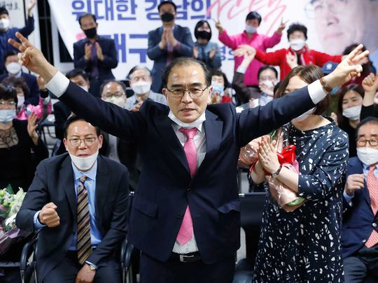 Korea polls Thae Yong Ho