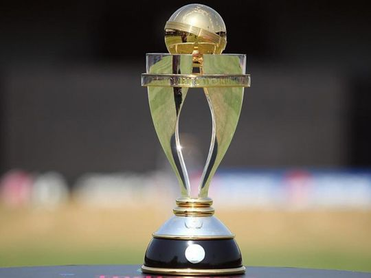 The Women's Cricket World Cup trophy