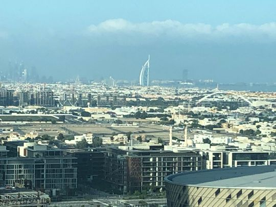 Cloudy skies and fog formation over parts of the UAE