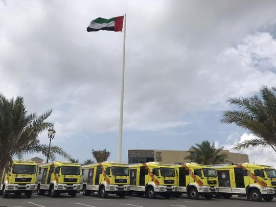 New fire engines for Sharjah Civil Defence