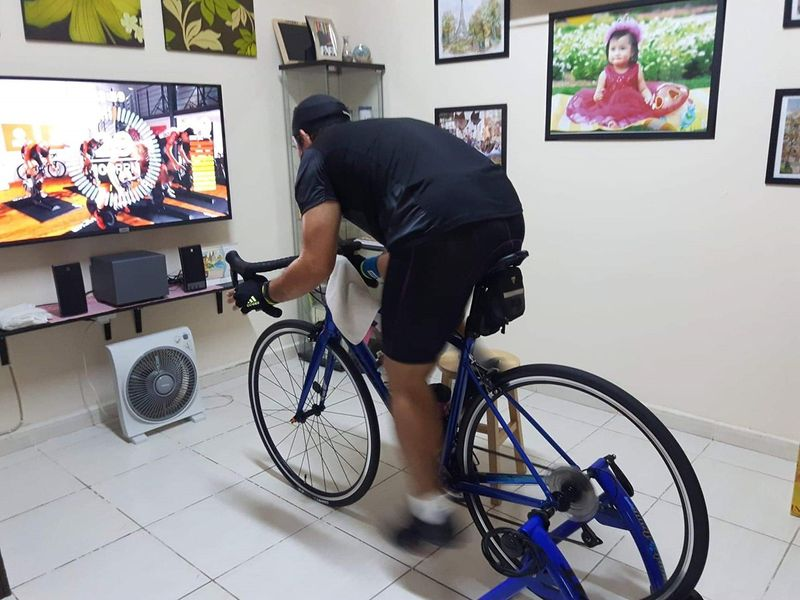 To take part in the Virtual Tour Challenge, participants will need to make sure their bikes are hooked up to an interactive Smart Tacx Trainer