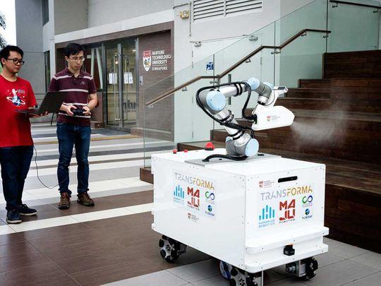 eXtreme Disinfection roBOT (XDBOT), a semi-autonomous robot Singapore
