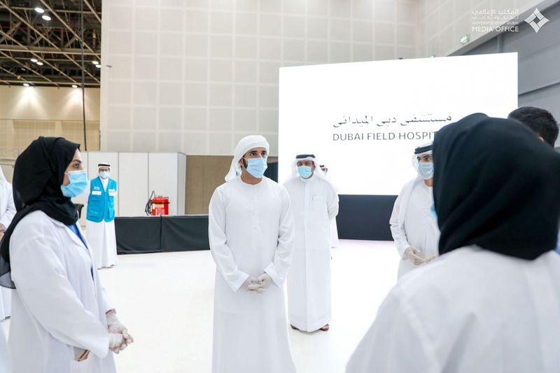 Sheikh Hamdan opens field hospital