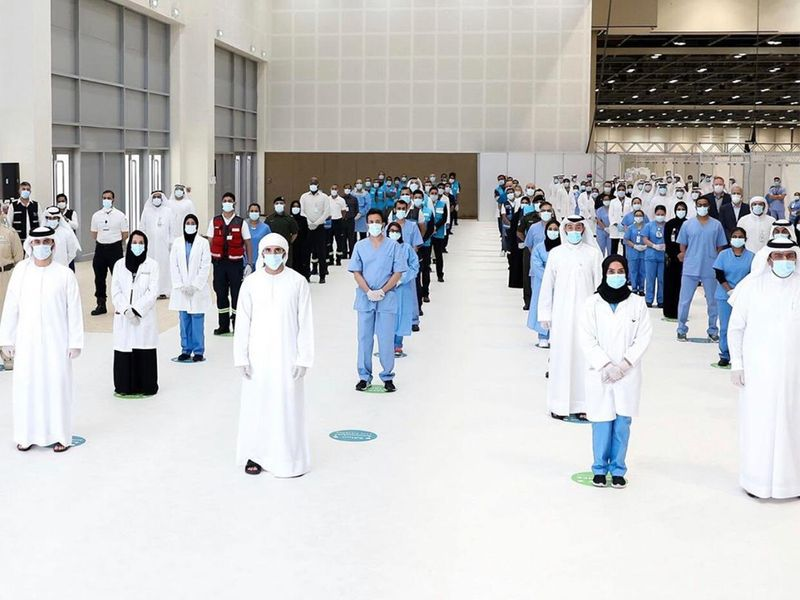 Sheikh Hamdan opens field hospital at DWTC