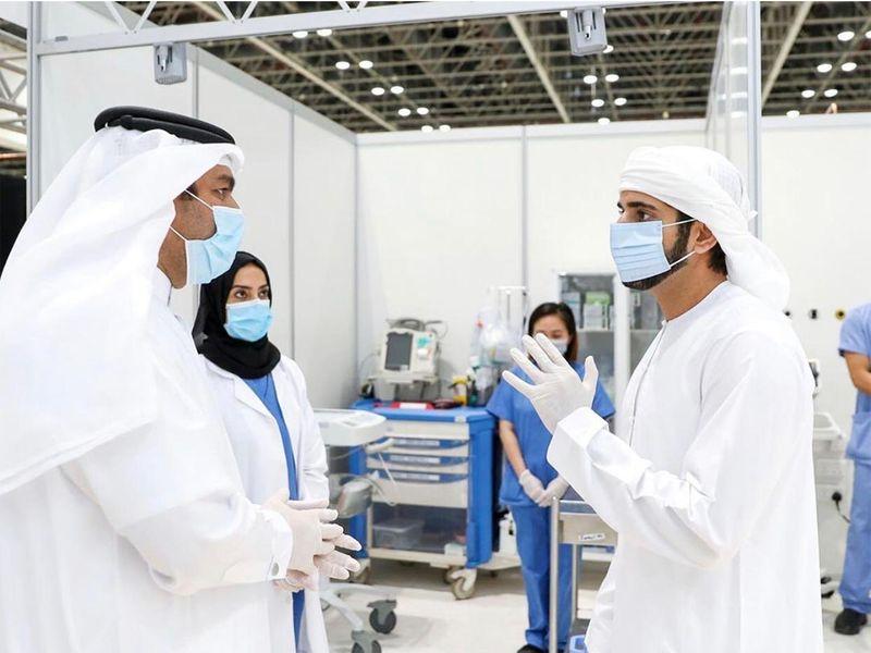 Sheikh Hamdan opens field hospital at DWTC