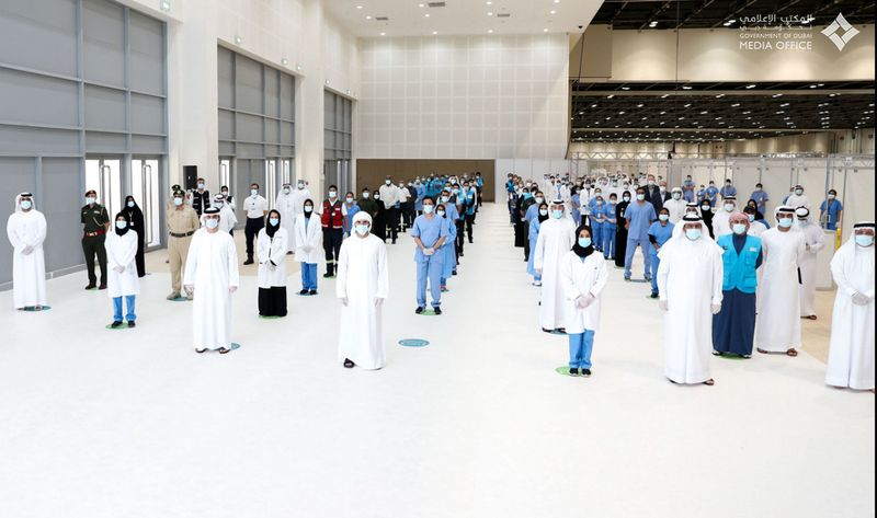 Sheikh Hamdan opens field hospital at Dubai World Trade Centre