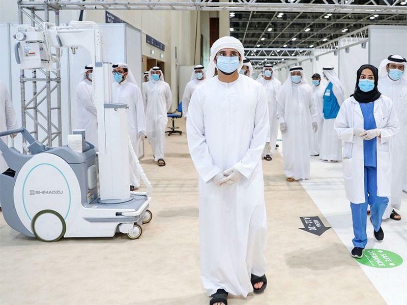 Sheikh Hamdan opens field hospital at Dubai World Trade Centre