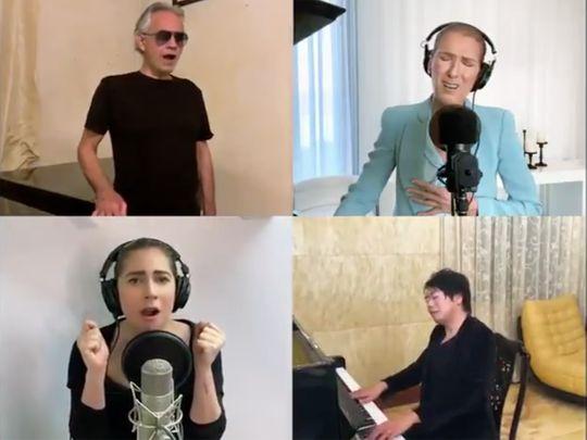 Andrea Bocelli, Celine Dion, Lady Gaga, Lang Lang