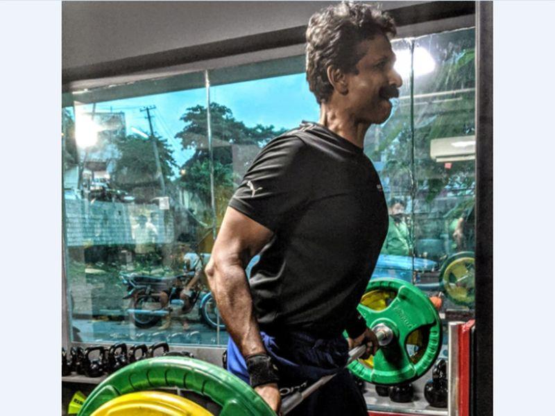 Biju george keeps fit