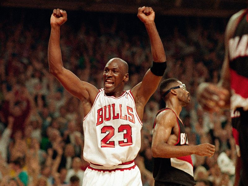Michael Jordan at his peak with the Chicago Bulls
