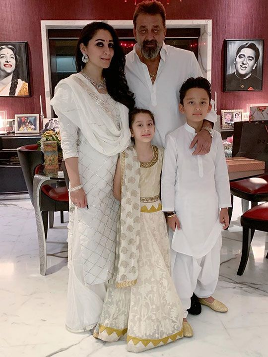 Sanjay Dutt with his wife Maanayata and 9-year-old twins Shahraan and Iqra.