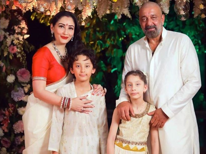 Sanjay Dutt with his wife Maanayata and 9-year-old twins Shahraan and Iqra