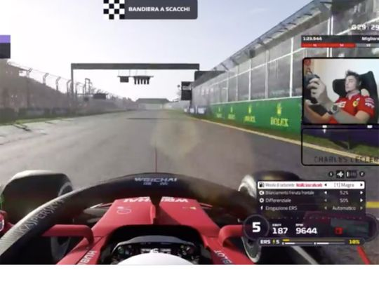 Charles Leclerc is thriving on the virtual Formula One scene
