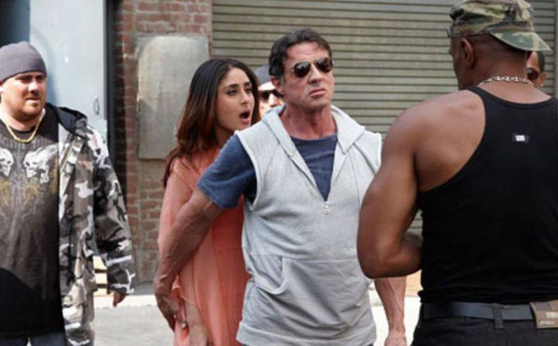 Kareena Kapoor and Sylvester Stallone