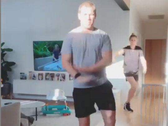 Warner is up to his dancing tricks again