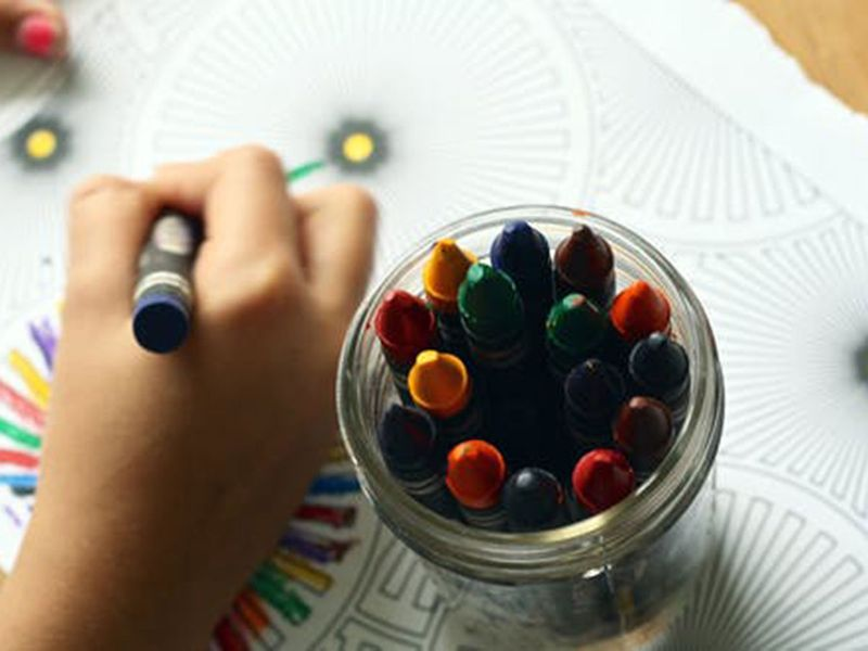 arts and crafts, kids colouring