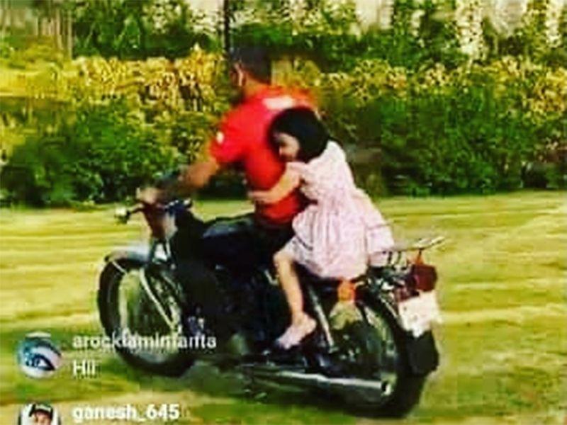 Dhoni takes daughter Ziva for a bike ride inside Ranchi farmhouse