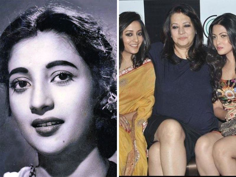 Suchitra Sen, Moon sen, Riya and Raima Sen.