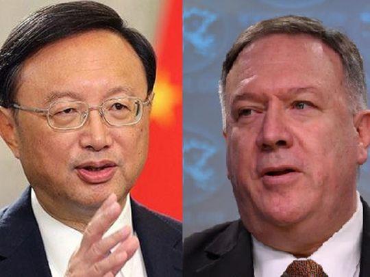 Yang Jiechi, China's top diplomat, Mike Pompeo