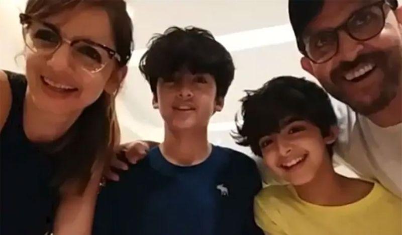 Hrithik Roshan and family