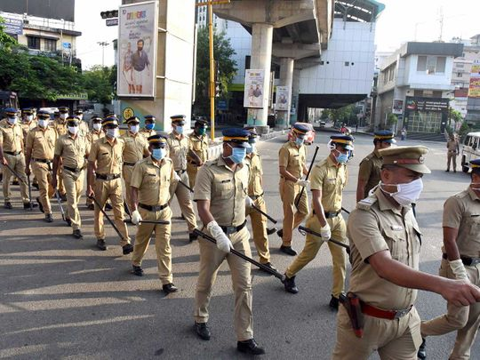 Kerala police lockdown
