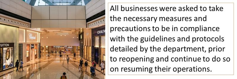 Malls reopening