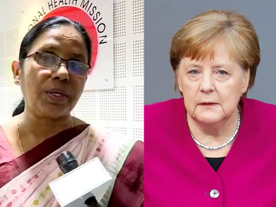 Shailaja teacher and Angela Merkel